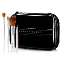 Sheer Cover Studio – Ultimate Brush Kit – Foundation Brush – Lip Brush – Concealer Brush – Contour Brush – with FREE Case – 5 Pieces
