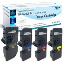 ASEKER Compatible Toner Cartridge Replacement for Kyocera TK-5242 TK5242 for Kyocera ECOSYS P5026cdn P5026cdw M5526cdn M5526cdw Printers, TK-5242K TK-5242C TK-5242M TK-5242Y(4-Pack)