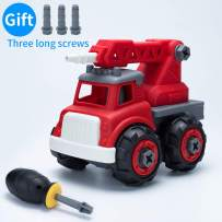 IJUSTBY Fire Truck-Assembly Toy Bulldozer with Constructions Set,Take Apart Toys Toddler Toys, Building Vehicle Play Set, Ideal Educational Toys &Birthday Present for Toddlers, Boys & Girl