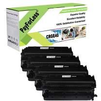 PayForLess Toner Cartridge E40 E20 Black 4PK Compatible for Canon PC140 PC160 PC170 PC310 PC330 PC530 PC550 PC700 PC710 PC770 PC795 PC890 PC920 PC921 PC940 PC941 PC980 FC200 FC220 Printers