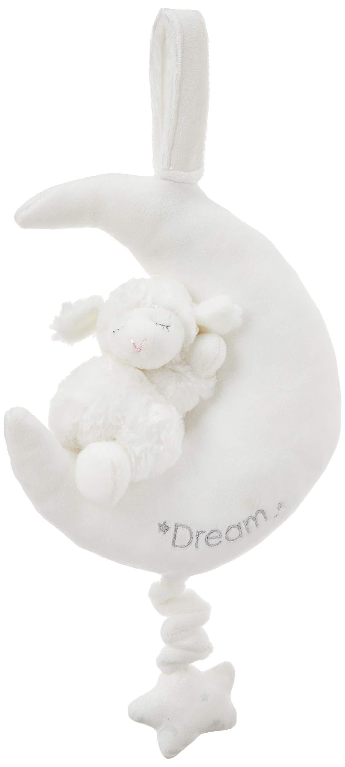 "Baby GUND Winky Lamb Moon Stuffed Animal Plush Pullstring Musical Toy, White, 9"""