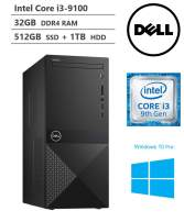 KKE Upgrades 2020 Newest Vostro 3000 Business Desktop, Intel Core i3-9100 Quad-Core Processor up to 4.20GHz, 32GB Memory, 512GB PCIe NVMe SSD + 1TB HDD, HDMI, VGA, DVD-RW, Wi-Fi, Windows 10 Pro, Black