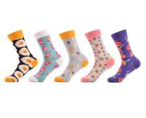 5 Pairs Women's Girls Crazy Cute Novelty Food Fruit Crew Cotton Funny Socks Great Gift Box