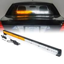 "Xprite 35.5"" Inch 32 LED Amber Yellow Emergency Traffic Advisor Vehicle Strobe Light Bar w/ 13 Warning Flashing Modes for Trucks Vehicles Cars"