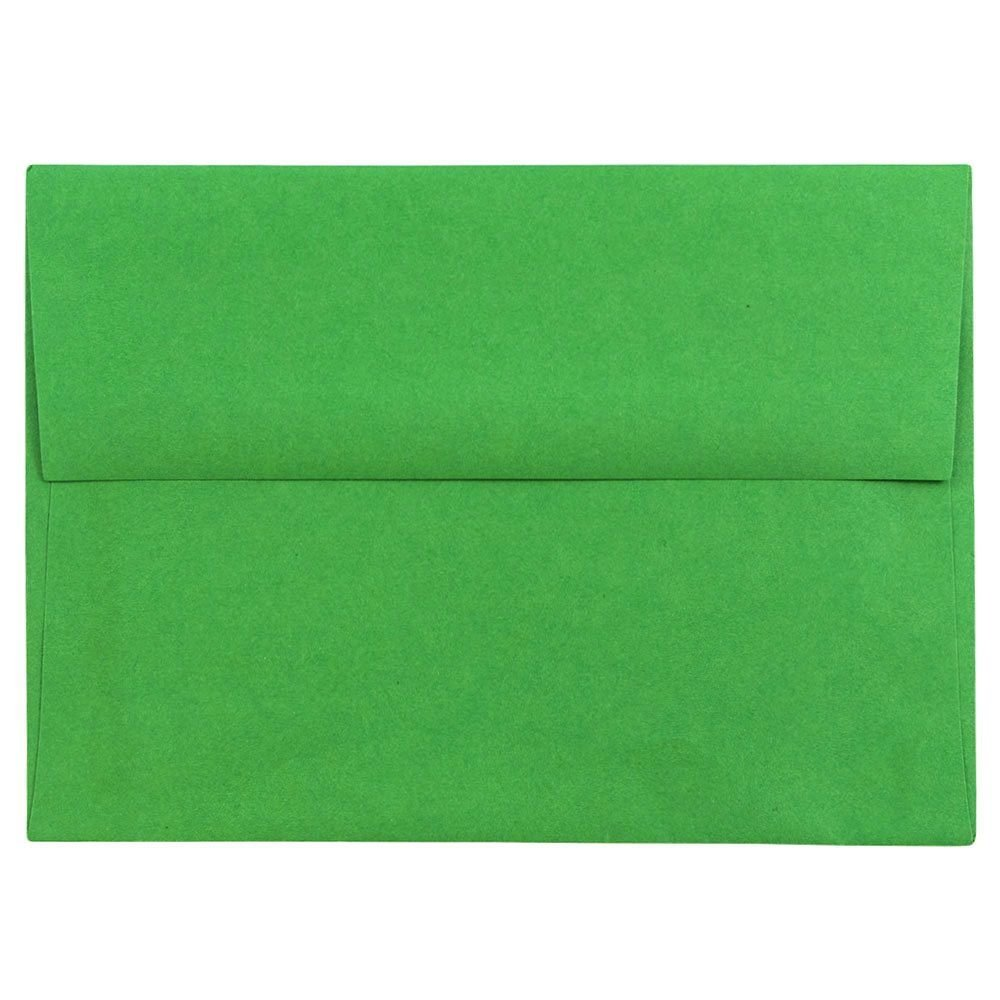 JAM PAPER A6 Colored Invitation Envelopes - 4 3/4 x 6 1/2 - Green Recycled - Bulk 500/Box