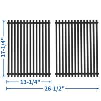 SHINESTAR Grill Grates Replacement for Nexgrill 720-0783E, Charbroil Classic 463411512, 463411911, Kenmore 122.16134110, Master Forge 1010037, 17x 13 Porcelain Steel Cooking Grates Parts