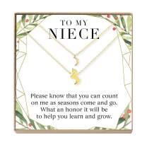 Niece Christmas - Heartfelt Card & Jewelry Gift Set