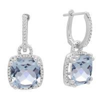 Dazzlingrock Collection 10K Ladies Dangling Drop Earrings, White Gold