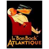 Le Bon Bock Atlantique by Norman Fraser, 18x24-Inch Canvas Wall Art