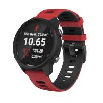 ANCOOL Compatible with Vivoactive 3 Band,20mm Quick Release Soft Silicone Replacement Strap for Forerunner 645/Galaxy Watch 42mm/Gear Sport/Galaxy Active 2 -Red