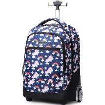 Rolling Backpack For Kids, Trolley Bags For Kids School Travel Laptop Books Multifunction Wheeled Backpack Luggage, A