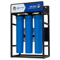 300 GPD Commercial Reverse Osmosis Water Filtration System – 5 Stage High Capacity RO Filtration – Includes Pre-Filters, Pressure Pump, Controller, Gauges, and RO Membrane