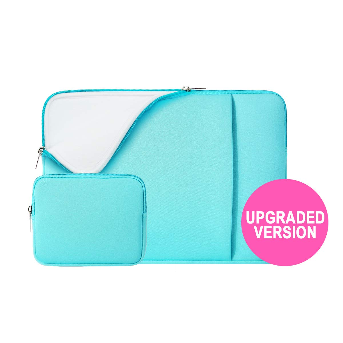 """RAINYEAR 13 Inch Laptop Sleeve Soft Lining Case Cover Bag with Pocket & Accessories Pouch,Compatible with 13.3 MacBook Pro Air/Retina/Touch Bar for 13"""" Notebook Chromebook(Blue,Upgraded Version)"""