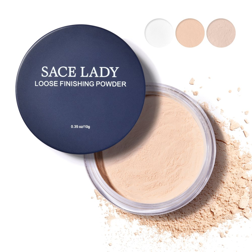 SACE LADY Mineral Loose Setting PowderSoft-matte Finish Oil-control Face Powder, Transparent