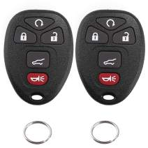 Car Key Fob Case for Cadillac Escalade ESV EXT SRX Chevrolet Suburban Tahoe Traverse GMC Acadia Yukon Buick Enclave Saturn Outlook OUC60270 OUC60221 Keyless Entry Remote Control Shell, 5 Buttons