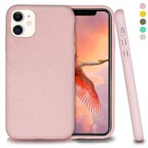 Inbeage Biodegradable iPhone 11 Phone Case,Eco-Friendly,Durable and Slim,6.1 Inches (Baby Pink)