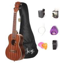 """Joy 4 JOY312 24 Inch Concert Sapele Ukulele with Bag,Strap,Digital Tuner, Pick Holder, Additional Set of Aquila String, 24"""" Kit"""