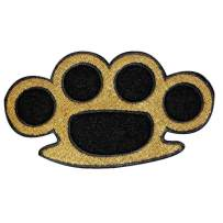 Brass Knuckles Patch Illegal Weapon knucklebusters Embroidered Iron On Applique