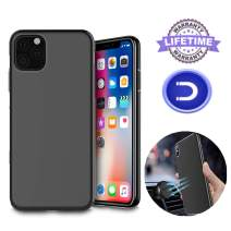 Magnetic Case for iPhone 11 Pro,[Support Magnetic Car Mount][Invisible Built-in Metal Plate] Magnet Case Ultra Thin Soft TPU Shockproof Anti-Scratch Protector Cover for iPhone 11 Pro, Black
