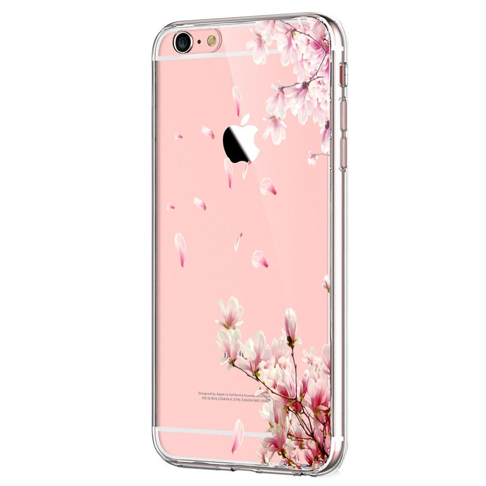 Wouier Case Compatible with iPhone 6 6s/6plus 6splus TPU Soft Silicone Transparent Clear Back Cover (iPhone6 6S 4.7inch, Color 23)