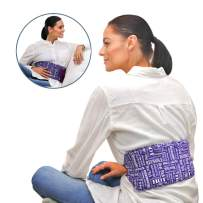 Heat Therapy Pack, Everywhere Microwaveable Wrap, Scented Heating Pad for Lower Back, Menstrual Cramps, Knee Strap Soothing Pain & Tension by HTP Relief, Purple