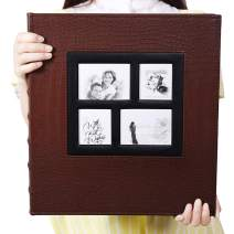 Vienrose Photo Album for 600 4x6 Photos Leather Cover Extra Large Capacity for Family Wedding Anniversary Baby Vacation (Brown)