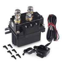 WATERWICH 12V 500A Winch Relay Winch Solenoid Contactor Winch Rocker Thumb Switch Combo with 6 Protecting caps Universal for ATV UTV 5500-12000lbs Winch