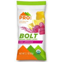 PROBAR - Bolt Organic Energy Chews, Pink Lemonade, Non-GMO, Gluten-Free, USDA Certified Organic, Healthy, Natural Energy, Fast Fuel Gummies with Vitamins B & C (12 Count)