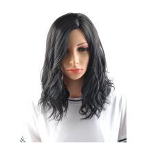 "BERON 14"" Women Girls Short Curly Wavy Bob Wig Rose Net with Wig Cap (Black)"