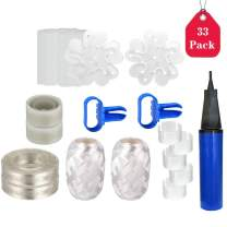 Amycute Balloon inflator Pumps,33 Pack Decorating Accessory Set ,Arch Garland, Balloon Decorating Strip,2 Tying Tool, Dot Glue, Plum Buckle, Ring Clip, Balloon Pump,Wedding Baby Showers Birthday Party Supplies Decorations