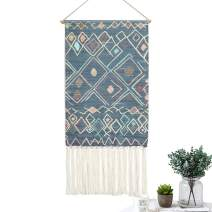 LOMOHOO Macrame Woven Wall Hanging Tapestry Boho Chic Wall Decor Geometric Art Bohemian Decoration for Apartment Home Dorm Room Backdrop (Aishani)