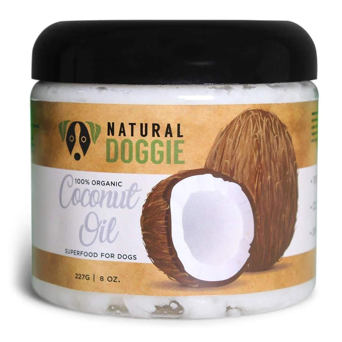 Natural Doggie Pure Organic Virgin Coconut Oil for Dogs for Topical Healing and Food Topper Supplement