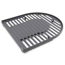Hongso Matte Cast Iron Cooking Grill Grid Grate Replacement Parts for Coleman Roadtrip Swaptop Grills LX LXE LXX, Non-Stick Camping BBQ Accessories, 1 Pack Barbecue Half Grill Grate, PCB012