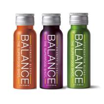 Daily Superfood Variety Pack - Green Smoothie, Immunity Blend & Ginger Turmeric Shot - 1/2 Day Organic Fruits, Root Vegetables, Kale, Acai & Elderberry Too Vegan & Gluten Free (3 Pack)