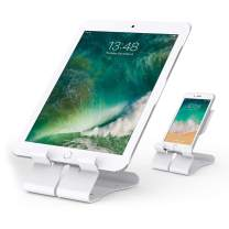 Beelta iPhone Stand, Android Cell Phone Stand, Tablet Stand for iPad (Up to 11 inch), Kindle E-Reader, Desk Accessories, White, BSC702W