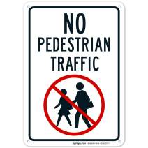 No Pedestrian Traffic Sign 10x7 Rust Free Aluminum, Weather/Fade Resistant, Easy Mounting, Indoor/Outdoor Use, Made in USA by SIGO SIGNS
