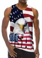 Loveternal Men Summer Cool Funny Tank Top Gym Fitness Sleeveless T-Shirt