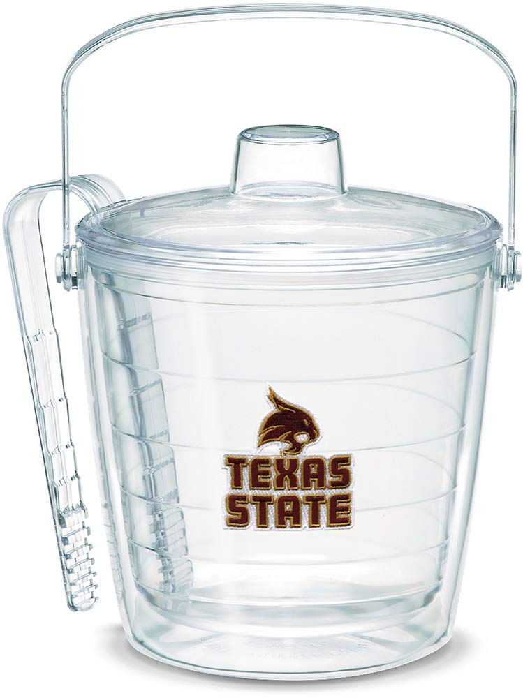 Tervis 1053501 Texas State Bobcats Logo Ice Bucket with Emblem and Clear Lid 87oz Ice Bucket, Clear