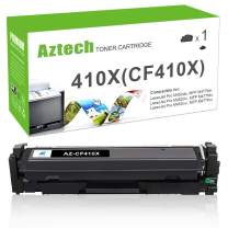 Aztech Compatible Toner Cartridge Replacement for HP 410X CF410X 410A CF410A Color Laserjet Pro MFP M477fnw M477fdn M477fdw M452dn M452dw M452nw (Black, 1-Pack)
