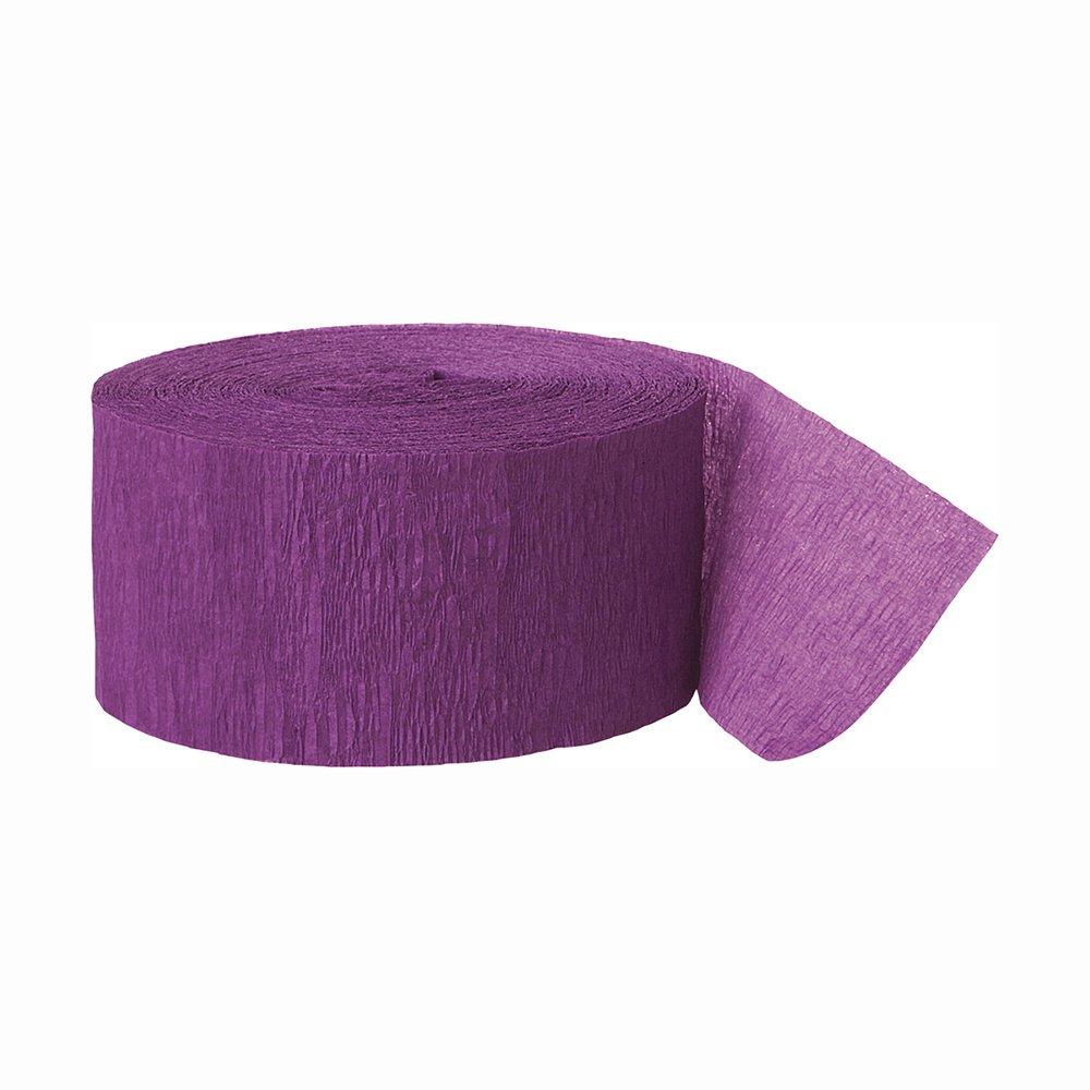 Unique Industries party decoration Crepe Paper Streamer, 250ft, Purple