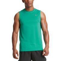 Mission Men's VaporActive Alpha Sleeveless T-Shirt, Dynasty Green, Large