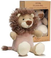 """WILD BABY Microwavable Plush Pal - Cozy Heatable Weighted Stuffed Animal with Aromatherapy Lavender Scent, 12"""" Lion"""