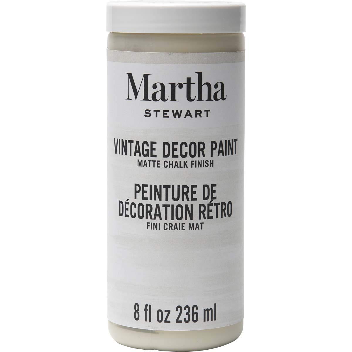 Martha Stewart Crafts 33532 Martha Stewart Vintage Decor Matte Chalk Linen, 8 oz Paint, 8 Fl Oz