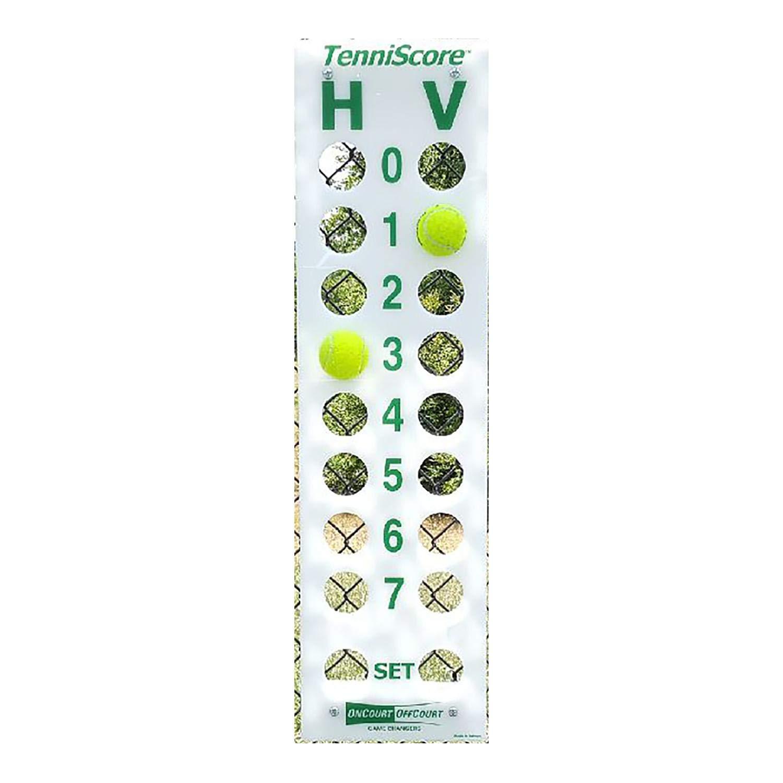 Oncourt Offcourt TenniScore Portable Tennis Score Keeper - Easy To Hang / Simple & Durable / Tennis Equipment