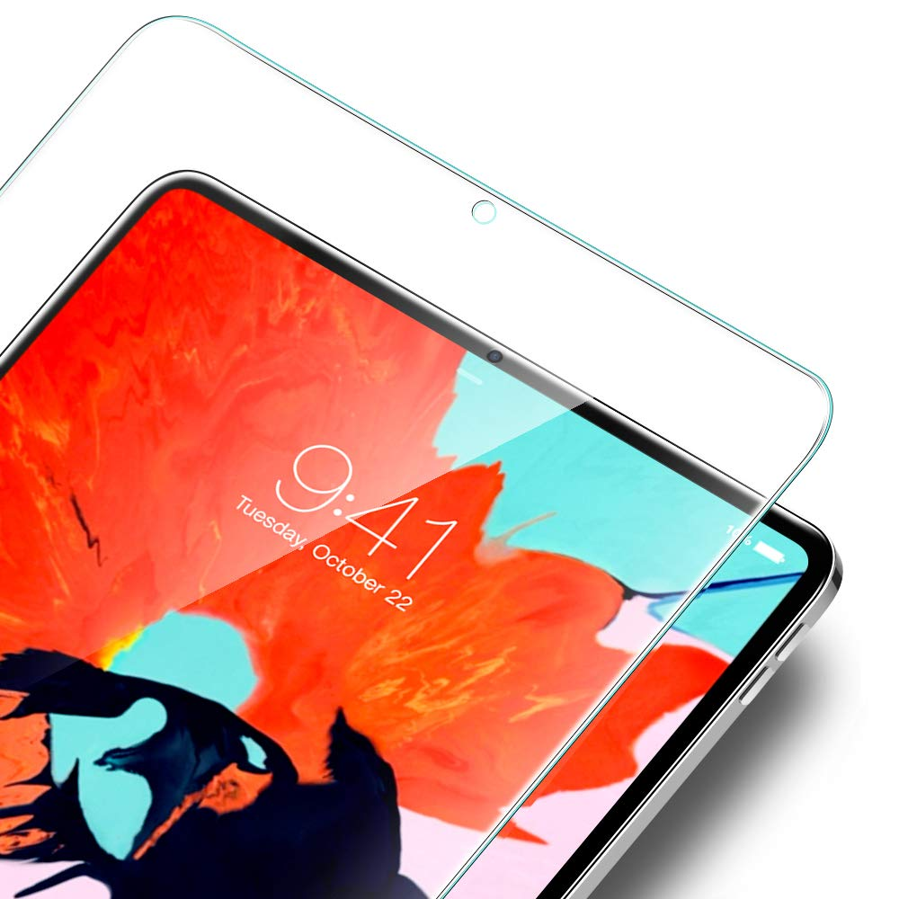 """ESR Screen Protector for The iPad Pro 11"""", 3X Stronger [Scratch-Resistant] 9H Hardness HD Clear Premium Tempered Glass Screen Protector for The All-Screen Apple iPad Pro 11 inch (2018 Release)"""