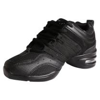 FREE FISHER Womens Jazz Shoes Mesh Split Sole Dance Sneakers Ladies Lace Up Ballroom Fitness Dancing Shoe