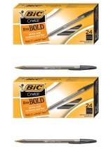 Cristal Xtra Bold Ballpoint Pen, Bold Point (1.6mm), Black, 2 Pack of 24-Count