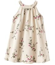 MULLSAN Little Big Girls' Linen Dress Breathable Children's Clothing Size 3-12
