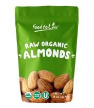 Organic Almonds, 8 Ounces - Non-GMO, Kosher, No Shell, Whole, Unpasteurized, Unsalted, Raw, Bulk