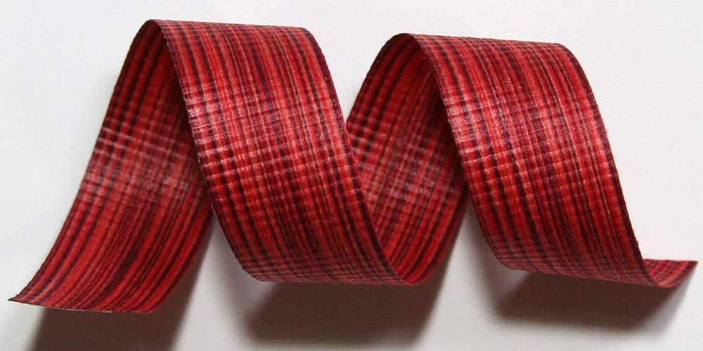 """100% Biodegradable Natural Ribbon   Prints & Stripes   Ribbon for Crafts   Cotton Curling Ribbon   Holiday Ribbon   Wrapping Ribbon   Eco-Friendly Ribbon (Flambe Chambray, 5/8"""" x 100 Yards)"""